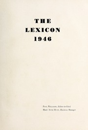 Page 5, 1946 Edition, Lexington High School - Lexicon Yearbook (Lexington, NC) online yearbook collection