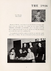 Page 6, 1946 Edition, Lexington High School - Lexicon Yearbook (Lexington, NC) online yearbook collection