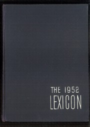 Page 1, 1952 Edition, Lexington High School - Lexicon Yearbook (Lexington, NC) online yearbook collection