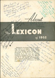 Page 5, 1952 Edition, Lexington High School - Lexicon Yearbook (Lexington, NC) online yearbook collection