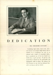 Page 8, 1952 Edition, Lexington High School - Lexicon Yearbook (Lexington, NC) online yearbook collection