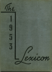 1953 Edition, Lexington High School - Lexicon Yearbook (Lexington, NC)