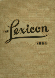 1954 Edition, Lexington High School - Lexicon Yearbook (Lexington, NC)