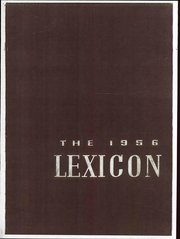 1956 Edition, Lexington High School - Lexicon Yearbook (Lexington, NC)