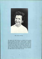 Page 11, 1962 Edition, Lexington High School - Lexicon Yearbook (Lexington, NC) online yearbook collection