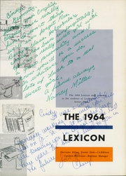 Page 5, 1964 Edition, Lexington High School - Lexicon Yearbook (Lexington, NC) online yearbook collection