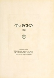 Page 7, 1921 Edition, Greensboro College - Echo Yearbook (Greensboro, NC) online yearbook collection
