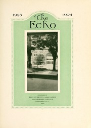 Page 9, 1924 Edition, Greensboro College - Echo Yearbook (Greensboro, NC) online yearbook collection