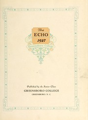 Page 5, 1927 Edition, Greensboro College - Echo Yearbook (Greensboro, NC) online yearbook collection
