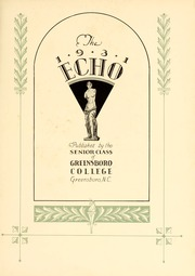 Page 11, 1931 Edition, Greensboro College - Echo Yearbook (Greensboro, NC) online yearbook collection