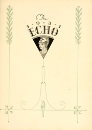 Page 9, 1931 Edition, Greensboro College - Echo Yearbook (Greensboro, NC) online yearbook collection