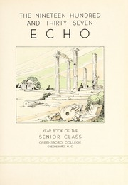 Page 7, 1937 Edition, Greensboro College - Echo Yearbook (Greensboro, NC) online yearbook collection
