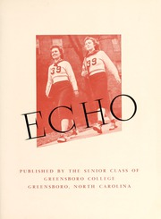 Page 9, 1939 Edition, Greensboro College - Echo Yearbook (Greensboro, NC) online yearbook collection