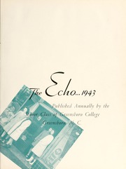 Page 7, 1943 Edition, Greensboro College - Echo Yearbook (Greensboro, NC) online yearbook collection