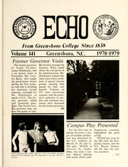 1979 Edition, Greensboro College - Echo Yearbook (Greensboro, NC)
