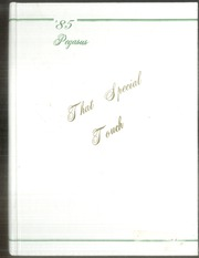 1985 Edition, West Stanly High School - Pegasus Yearbook (Oakboro, NC)