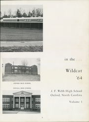 Page 7, 1964 Edition, J F Webb High School - Wildcat Yearbook (Oxford, NC) online yearbook collection