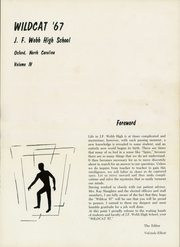Page 5, 1967 Edition, J F Webb High School - Wildcat Yearbook (Oxford, NC) online yearbook collection