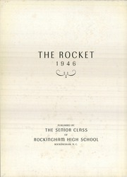 Page 6, 1946 Edition, Rockingham High School - Rocket Yearbook (Rockingham, NC) online yearbook collection