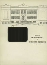 Page 6, 1957 Edition, Rockingham High School - Rocket Yearbook (Rockingham, NC) online yearbook collection