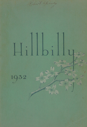 Page 1, 1932 Edition, Lee Edwards High School - Hillbilly Yearbook (Asheville, NC) online yearbook collection