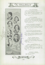 Page 16, 1932 Edition, Lee Edwards High School - Hillbilly Yearbook (Asheville, NC) online yearbook collection
