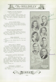 Page 17, 1932 Edition, Lee Edwards High School - Hillbilly Yearbook (Asheville, NC) online yearbook collection