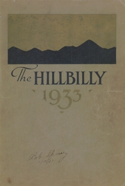 1933 Edition, Lee Edwards High School - Hillbilly Yearbook (Asheville, NC)