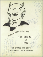 Page 5, 1952 Edition, Red Springs High School - Red Mill Yearbook (Red Springs, NC) online yearbook collection