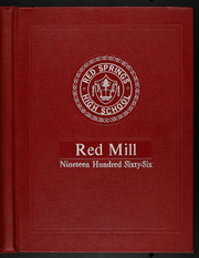 1966 Edition, Red Springs High School - Red Mill Yearbook (Red Springs, NC)