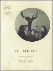Page 5, 1952 Edition, Elkin High School - Elk Yearbook (Elkin, NC) online yearbook collection