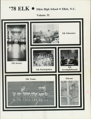 Page 5, 1978 Edition, Elkin High School - Elk Yearbook (Elkin, NC) online yearbook collection
