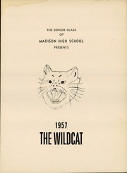 Page 5, 1957 Edition, Madison High School - Wildcat Yearbook (Marshall, NC) online yearbook collection