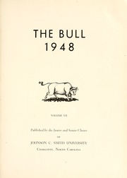 Page 5, 1948 Edition, Johnson C Smith University - Golden Bull Yearbook (Charlotte, NC) online yearbook collection