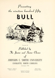 Page 5, 1950 Edition, Johnson C Smith University - Golden Bull Yearbook (Charlotte, NC) online yearbook collection