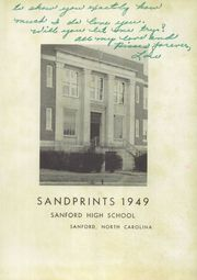 Page 5, 1949 Edition, Sanford Central High School - Sandprints Yearbook (Sanford, NC) online yearbook collection