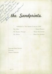 Page 6, 1949 Edition, Sanford Central High School - Sandprints Yearbook (Sanford, NC) online yearbook collection