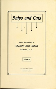 Page 7, 1913 Edition, Central High School - Snips and Cuts Yearbook (Charlotte, NC) online yearbook collection