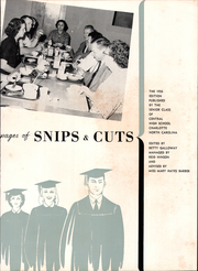 Page 7, 1956 Edition, Central High School - Snips and Cuts Yearbook (Charlotte, NC) online yearbook collection
