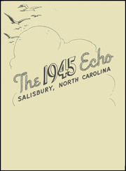 Page 5, 1945 Edition, Boyden High School - Echo Yearbook (Salisbury, NC) online yearbook collection