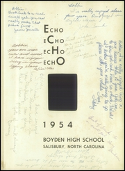 Page 5, 1954 Edition, Boyden High School - Echo Yearbook (Salisbury, NC) online yearbook collection