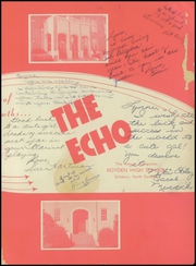 Page 11, 1955 Edition, Boyden High School - Echo Yearbook (Salisbury, NC) online yearbook collection