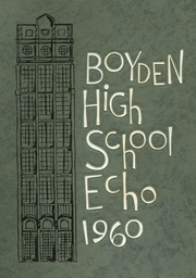 1960 Edition, Boyden High School - Echo Yearbook (Salisbury, NC)
