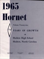 Page 5, 1965 Edition, Hudson High School - Hornet Yearbook (Hudson, NC) online yearbook collection