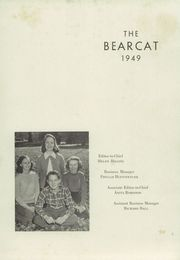 Page 5, 1949 Edition, Lenoir High School - Bearcat Yearbook (Lenoir, NC) online yearbook collection