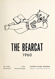 Page 5, 1960 Edition, Lenoir High School - Bearcat Yearbook (Lenoir, NC) online yearbook collection