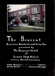 Page 5, 1962 Edition, Lenoir High School - Bearcat Yearbook (Lenoir, NC) online yearbook collection
