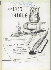 Page 5, 1955 Edition, Rosman High School - Oriole Yearbook (Rosman, NC) online yearbook collection