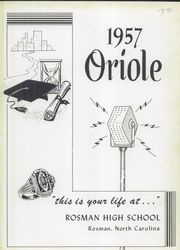 Page 5, 1957 Edition, Rosman High School - Oriole Yearbook (Rosman, NC) online yearbook collection