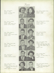 Page 17, 1951 Edition, Atkins High School - Maroon and Gold Yearbook (Winston Salem, NC) online yearbook collection